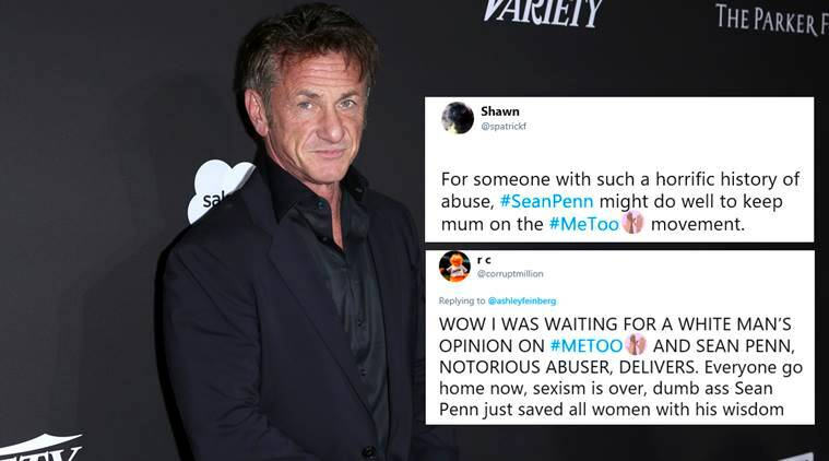 sean penn, me too movement, sean penn debut book, sean penn me too poem, sean penn slam me too, sean penn sexual harassment case, viral news, indian express