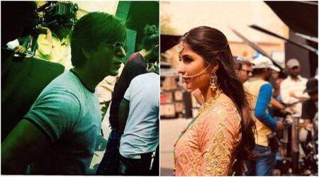 Katrina Kaif's bejeweled look from the sets of Shah Rukh Khan's Zero, see photos