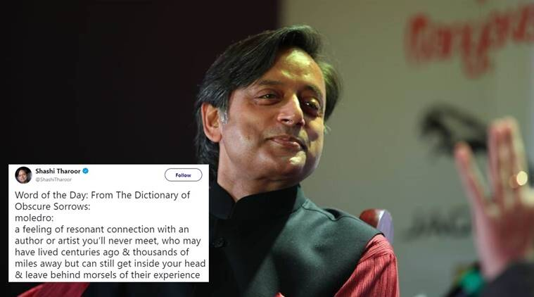 shashi tharoor, shashi tharoor tweets, shashi tharoor new words, shashi tharoor english, shashi tharoor english vocabulary, shashi tharoor word of the day,shashi tharoor moledro, shashi tharoor moledro meaning, moledro meaning, Indian Express, Indian Express News