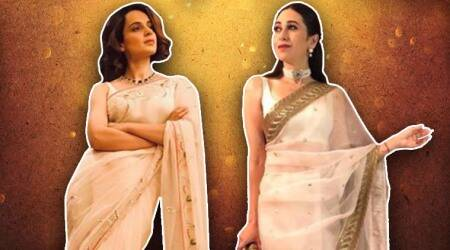 From Kangana Ranaut to Karisma Kapoor, Bollywood celebs give style tutorials on how to nail sheer saris