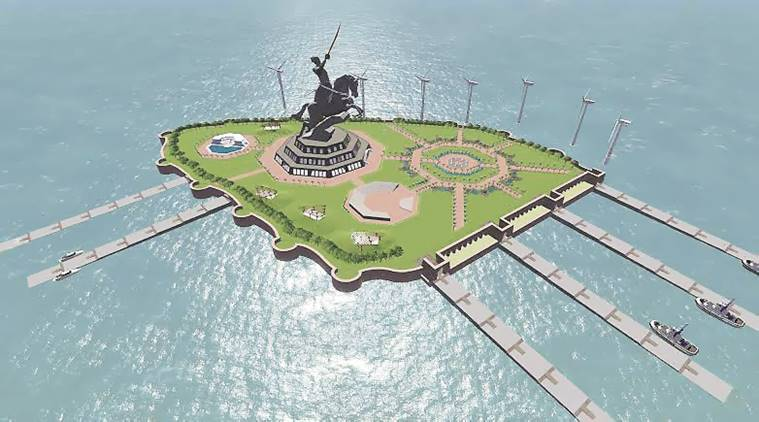 Shivaji statue, Shivaji memorial project, Arabian Sea, Devendra Fadnavis,  Shivaji memorial project corruption, BJP, Indian Express