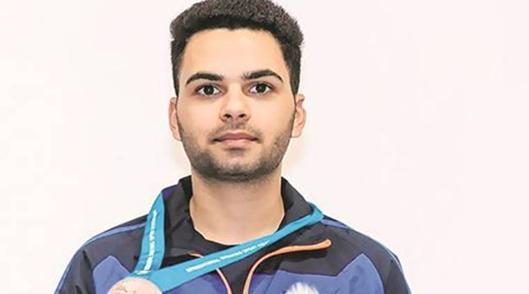 Arjun Babuta, arjun babuta medal, junior shooting world cup, shooting world cup news, sports news, indian express