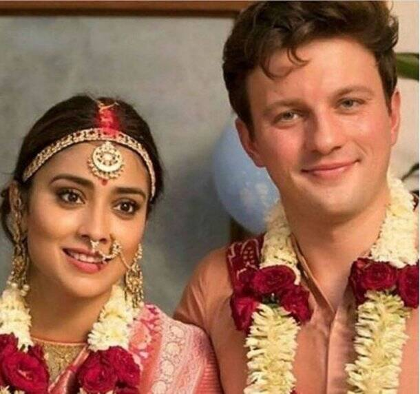 shriya saran marriage pictures and videos