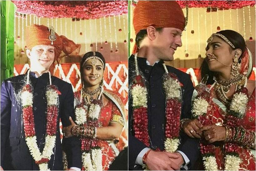 shriya saran wedding photos