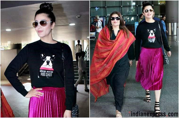 airport fashion, airport style, Karan Johar, Kangana Ranaut, Kriti Sanon, Shruti Haasan, Malaika Arora, Tamannaah Bhatia, Kiara Advani, bollywood celeb airport fashion, celeb fashion, bollywood fashion, indian express, indian express news