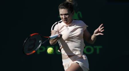 Simona Halep survives Oceane Dodin scare to advance in Miami