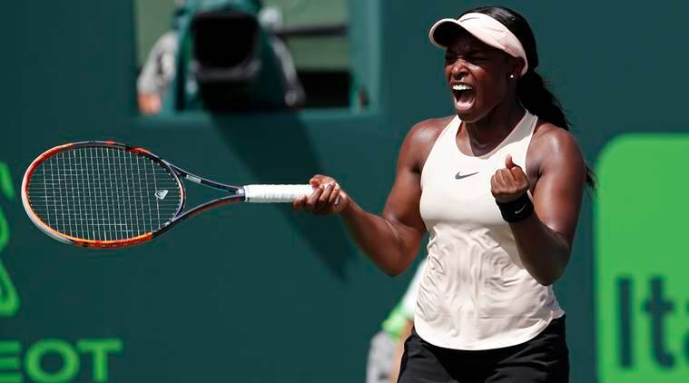 Image result for Sloane Stephens beats Jelena Ostapenko to win Miami Open