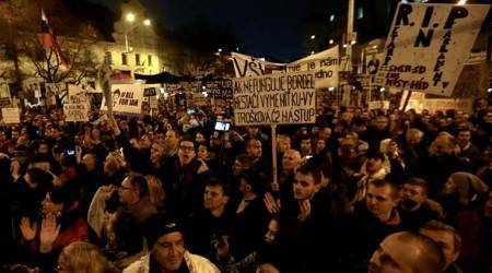 Slovaks protest nationwide after PM's resignation fails to appease
