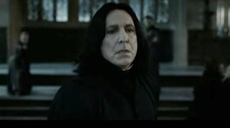 Harry potter snape scenes, snape being good scene, Snape fight with Professor McGonagall, snape fights McGonagall video, viral video, indian express, indian express news