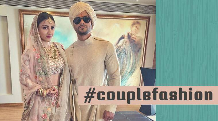 Soha Ali Khan, Soha Ali Khan fashion, Kunal Khemu, Kunal Khemu fashion, Kunal Khemu Soha Ali Khan couple fashion, Kunal Khemu Soha Ali Khan couple fashion goals, Kunal Khemu Soha Ali Khan Vogue India, indian express, indian express news