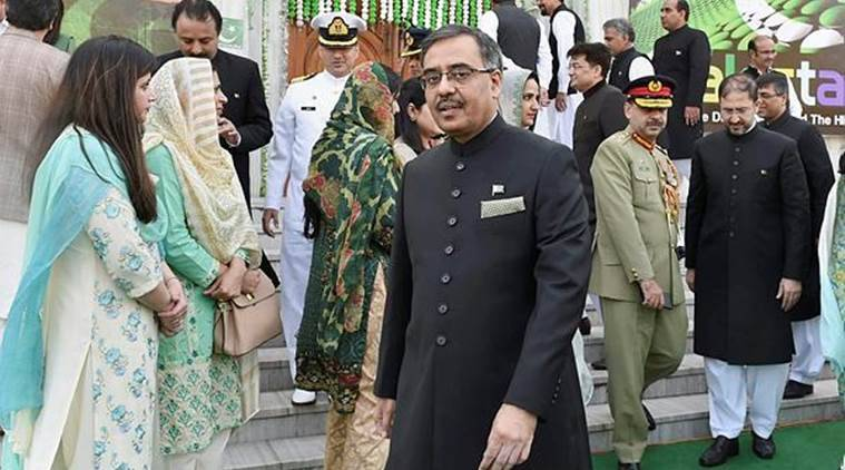 Pakistan's envoy to India Sohail Mahmood during Pakistan National Day celebrations at Pakistan High Commission in New Delhi on Friday. (PTI)