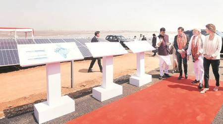 PM Modi, Emmanuel Macron inaugurate UP's largest solar power plant