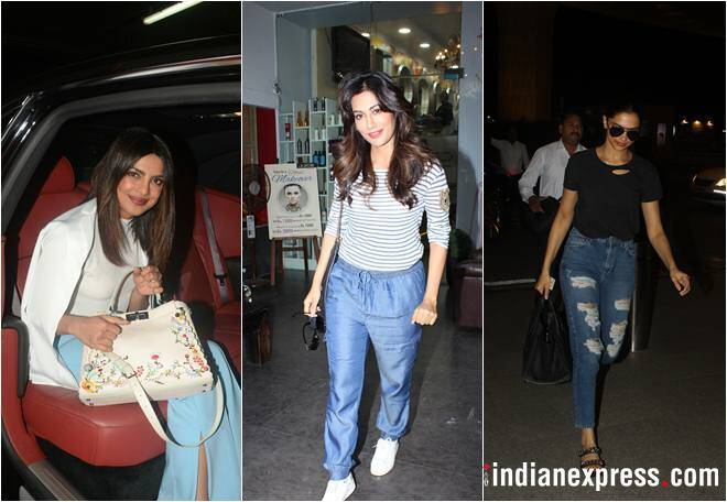 Priyanka Chopra arrives in India, Chitrangda Singh, Deepika Padukone and others spotted too