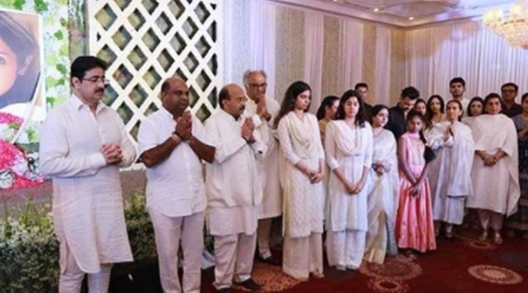 South stars pay condolences to Sridevi's family at Chennai prayer meet