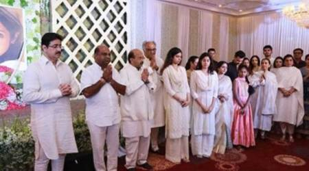 Sridevi Chennai prayer meet: Suriya, Jyothika, AR Rahman and other Tamil stars condole with Boney Kapoor, Jahnvi and Khushi