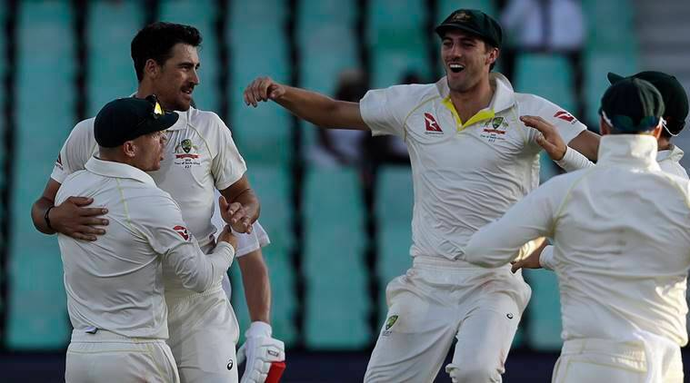 South Africa vs Australia SA vs Aus Aus vs SA 1st Test Mitchell Starc Nathan Lyon AB de Villiers sports news cricket Indian Express