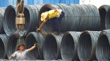 China steel nears lowest price in a month amid weakening global demand