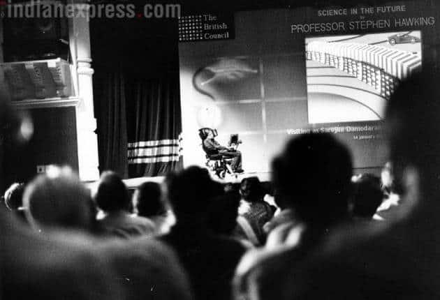 Hawking's 2001 India visit