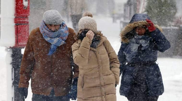 Winter snow storm in Northeast US