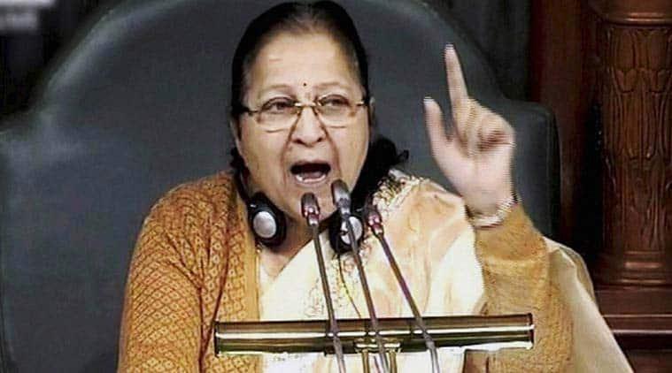 lok sabha, sumitra mahajan, Lok sabha logjam, parliament logjam, budget session, no-trust notice in Lok Sabha, Lok Sabha adjourned, indian express