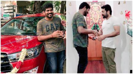 Suriya gifts a car to Thaana Serndha Kootam director Vignesh Shivn, see photos