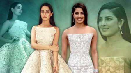 Surveen Chawla's stunning structured dress reminded us of Priyanka Chopra's Ralph and Russo Oscars gown
