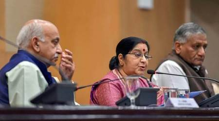 Indians Killed In Iraq, Iraq Indians Killed, Sushma Swaraj, EAM Sushma Swaraj, Congress, ISIS, Mosul, India News, Indian Express News