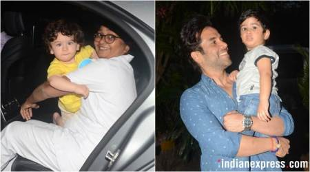 Taimur Ali Khan and Laksshya Kapoor spotted on a playdate