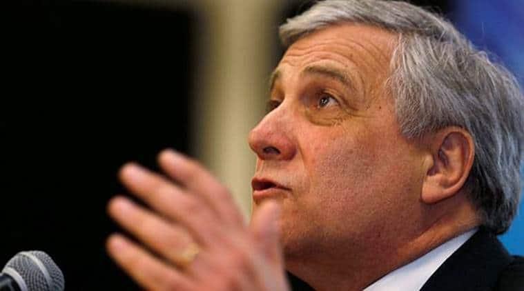 European Parliament President Antonio Tajani, Antonio Tajani, Itlay Antonio Tajani, Italy Election, Italy Presidential Election, World News, Latest World News, Indian Express, Indian Express News