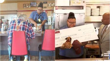 Waitress' act of kindness wins her love and scholarship worth Rs 10,00,000 for college