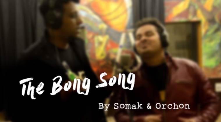 bong video, bong songs, viral bong videos, viral bong songs, somak and orchon bong song, indian express, indian express news