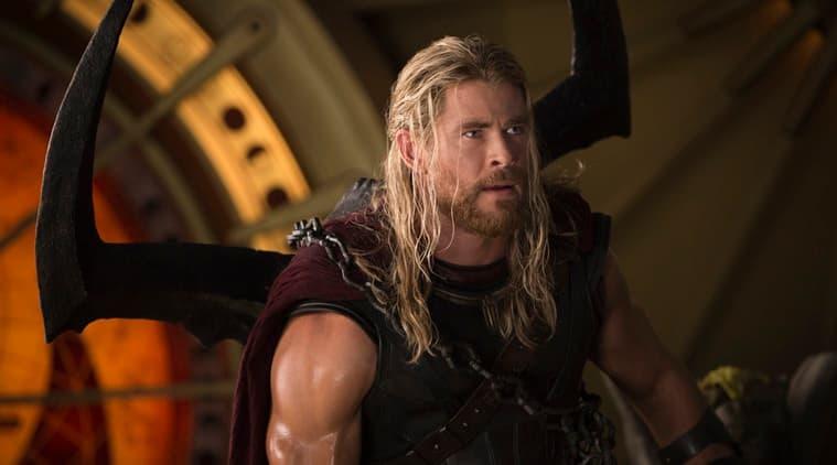 chris hemsworth as thor in thor ragnarok