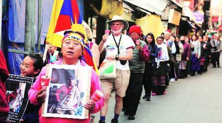 With a tinge of disappointment, Tibetans prepare to thank India