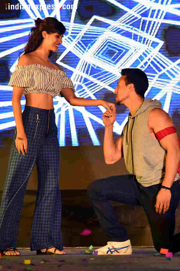 Tiger Shroff and Disha Patani in New Delhi