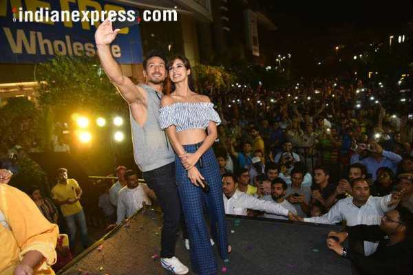 Tiger Shroff and Disha Patani while promoting Baaghi 2