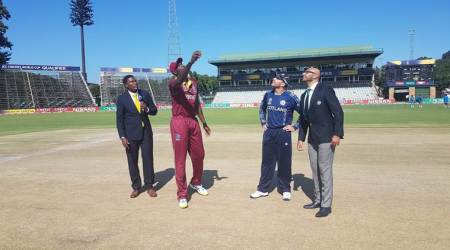 West Indies are playing Scotland in ICC 2019 World Cup qualifier.
