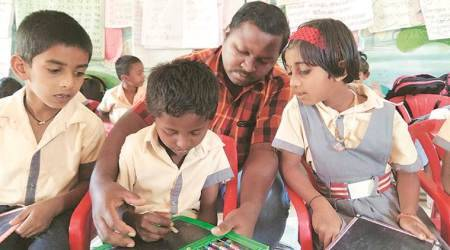 Giant ants, red balloons and a 'bandhu' keep tribal kids inschool