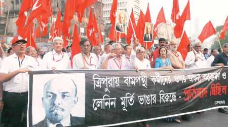 They may destroy Lenin's statue but red flags will rise in protest: Sitaram Yechury