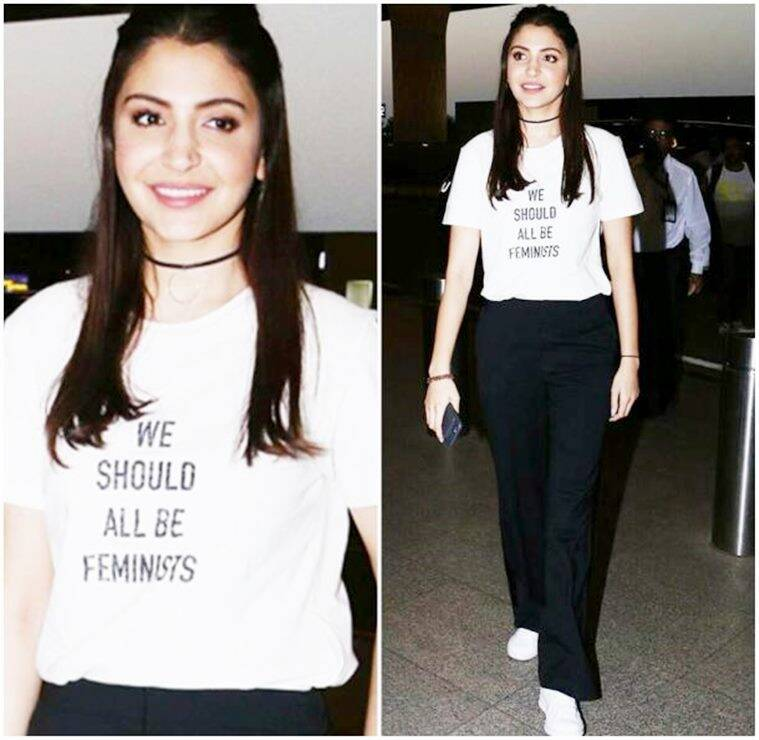 women's day, happy women's day, international women's day 2018, women's day 2018, women's day empowerment, deepika padukone, anushka sharma, alia bhatt, parineeti chopra, sonakshi sinha, freida pinto, celeb fashion, t-shirt quotes celebrities, bollywood celebs t shirt quotes fashion, celeb fashion, bollywood fashion, indian express, indian express news