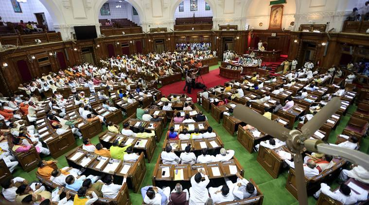Uttar Pradesh Control of Organised Crime Bill (UPCOCB), UPCOCB, UP Control of Organised Crime Bill legislative assembly, Control of Organised Crime Bill introduce assembly, indian express news
