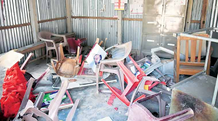 tripura violence, tripura post-poll violence, cpm, bjp violence in tripura, lenin statue destroyed in tripura, tripura political clashes, sitaram yechury, indian express news