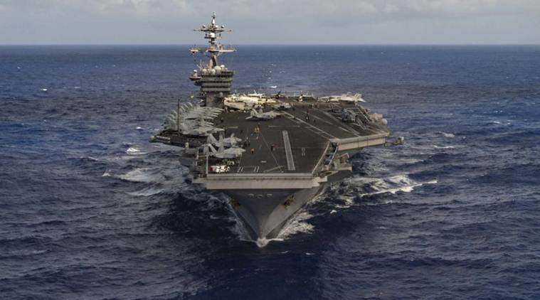 After 40 years, U.S. aircraft carrier Carl Vinson arrives in Vietnam