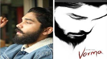 Chiyaan Vikram unveils son Dhruvs look for Arjun Reddy remake, Varma