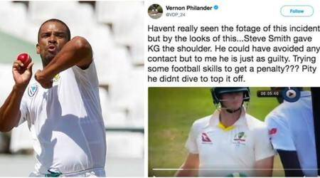 Vernon Philander has got to deal with the consequences of his tweet, says CameronBancroft