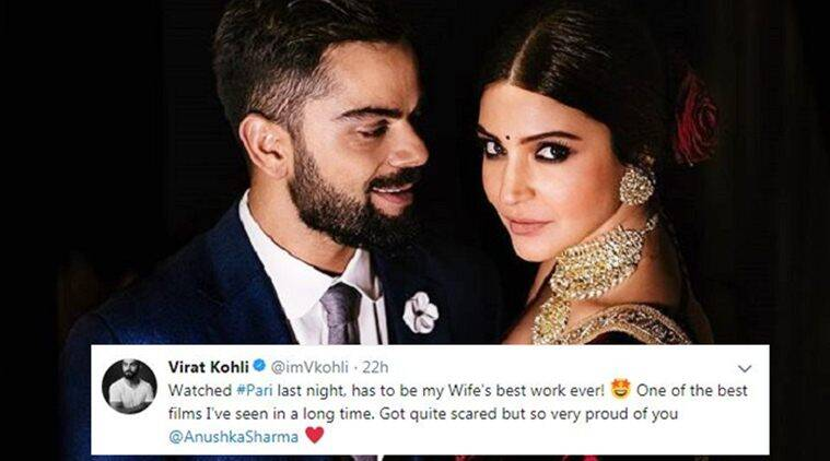 Virat Kohli praises wife Anushka Sharma's 'best work ever' in Pari