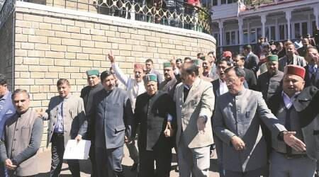 Himachal Assembly Session-Day 1: Congress stages walkout