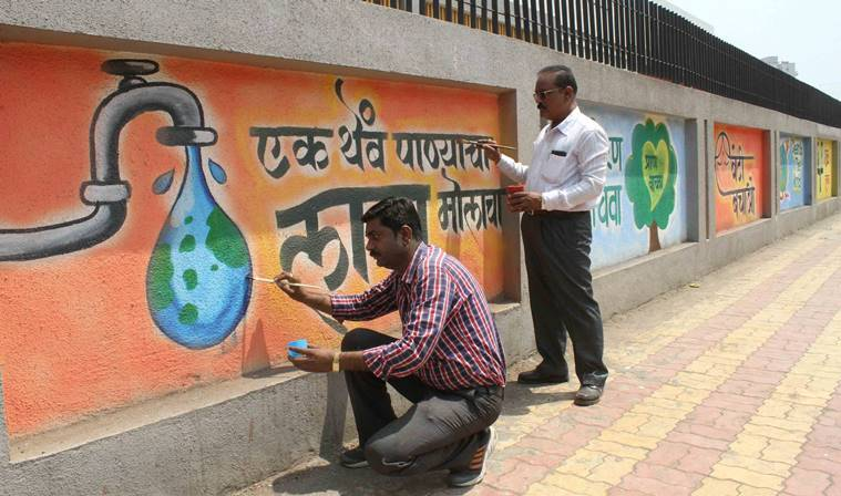 Mumbai: Teachers take aesthetic route to beautify city walls