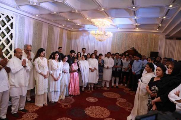 sridevi prayer meet ar rahman latha rajinikanth