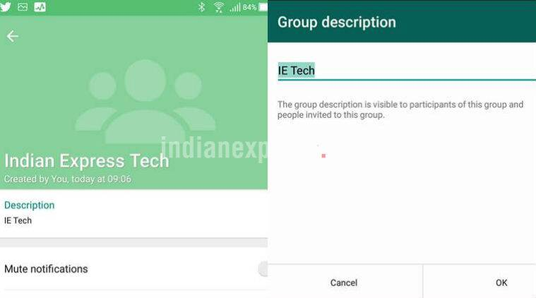 WhatsApp Group Description feature on Android and iOS and how it works