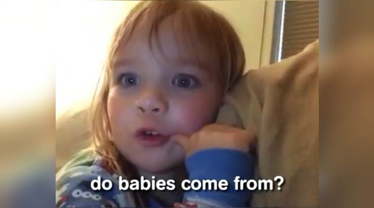 viral video, kids answering where babies come from, funny kids video, funniest american kids video, indian express, indian express news